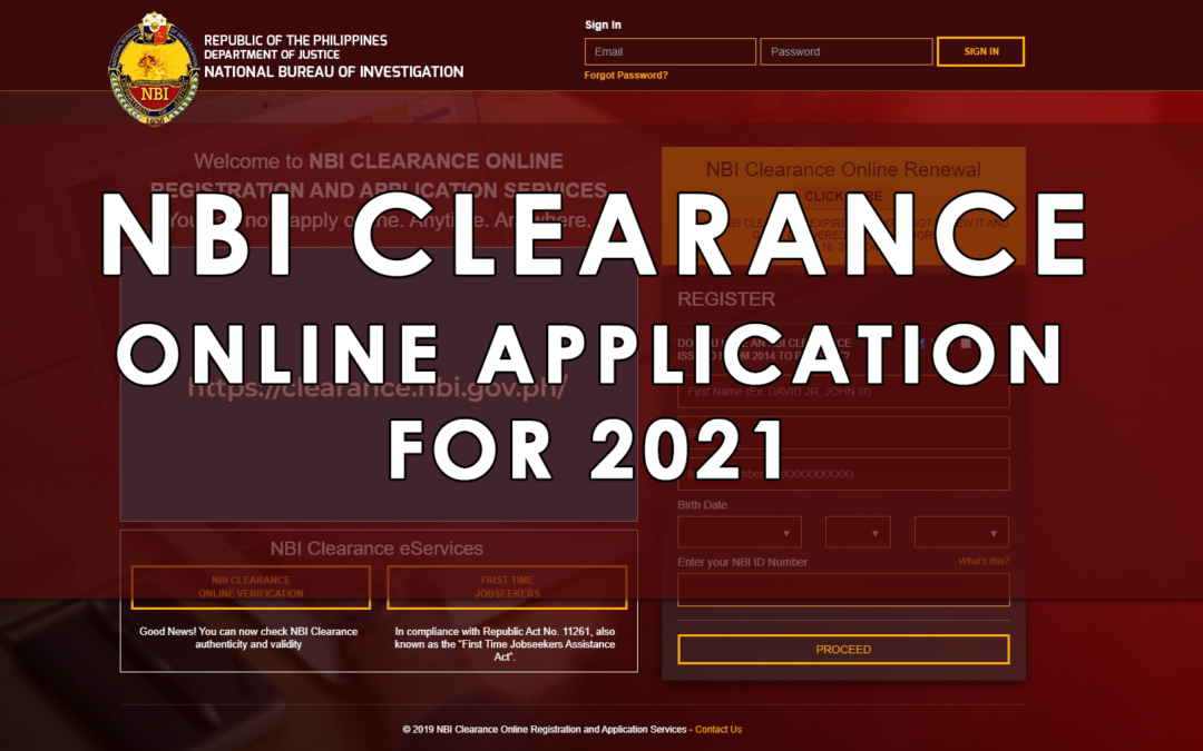 Step-by-Step Process para sa NBI Clearance Online Application